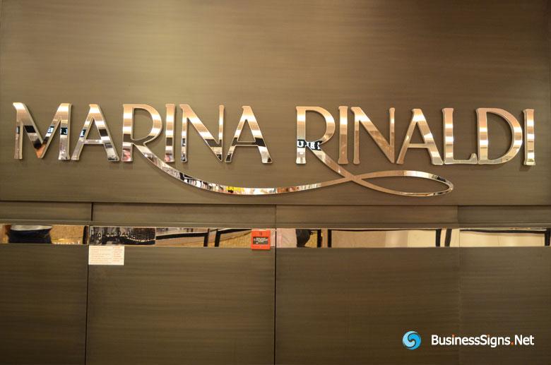 2 Layers Acrylic Lasers Cut Signs For Marina Rinaldi