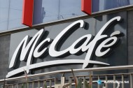 3D LED Back-lit Signs With Brushed Stainless Steel Letter Shell For McCafé