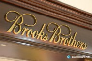 3D Fabricated Brushed Gold Plated Signs For Brooks Brothers