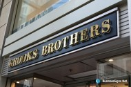 3D LED Backlit Signs With Mirror Polished Gold Plated Letter Shell & 20mm Thickness Acrylic Back Panel For Brooks Brothers