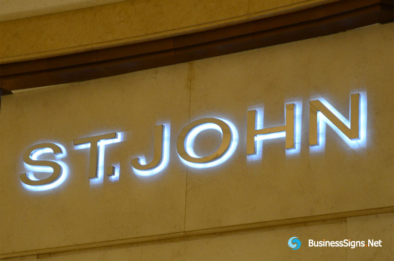 3d Led Backlit Signs With Mirror Polished Stainless Steel