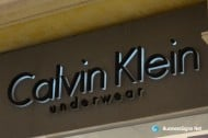 3D LED Backlit Signs With Painted Stainless Steel Letter Shell & 20mm Thickness Acrylic Back Panel For Calvin Klein