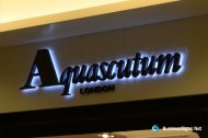 3D LED Backlit Signs With Painted Stainless Steel Letter Shell & 10mm Thickness Acrylic Back Panel For Aquascutum