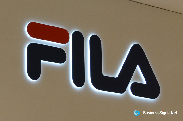 3D LED Side-lit Signs With Painted Acrylic Front-panel For Fila