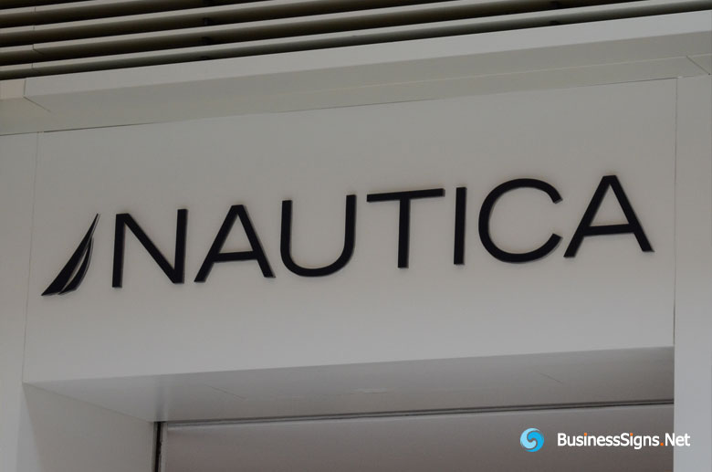 3D Painted Fabricated Stainless Steel Signs For Nautica