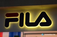 3D LED Backlit Signs With Painted Stainless Steel Letter Shell For Fila