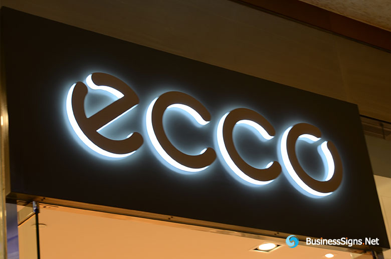 3D LED Side-lit Signs With Painted Acrylic Front-panel For ECCO