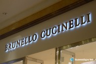 3D LED Backlit Signs With Brushed Stainless Steel Letter Shell For Brunello Cucinelli