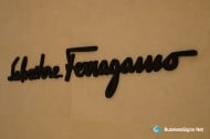 3D Painted Fabricated Stainless Steel Signs For Salvatore Ferragamo