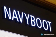 3D LED Front-lit Signs With Painted Stainless Steel Letter Shell For NAVYBOOT