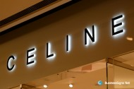 3D LED Side-lit Signs With Black Acrylic Front-panel For Céline
