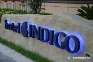 3D LED Backlit Signs With Painted Stainless Steel Letter Shell For Indigo