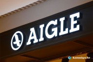 3D LED Front-lit Signs With Painted Stainless Steel Letter Shell & 20mm Thickness Acrylic Front-panel For Aigle