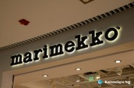 3D LED Backlit Signs With Painted Stainless Steel Letter Shell For Marimekko
