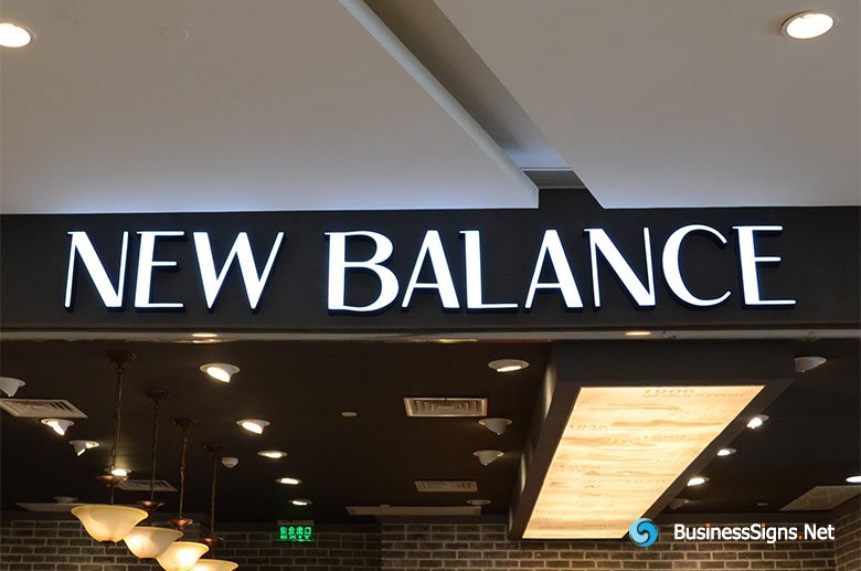 3D LED Front-lit Signs With Painted Stainless Steel Letter Shell For New Balance