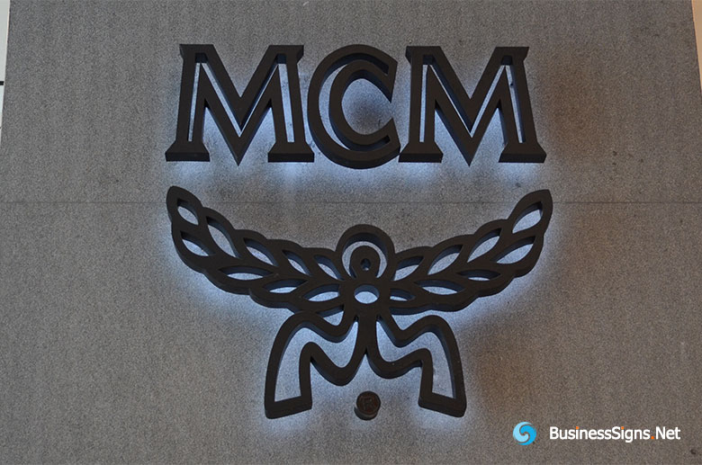 3D LED Backlit Signs With Painted Stainless Steel Letter Shell For Modern Creation Munich (MCM)