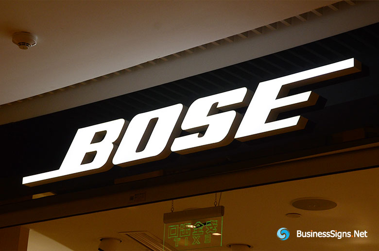 3D LED Front-lit Signs With Painted Stainless Steel Letter Shell For Bose