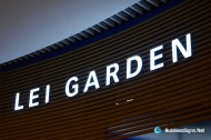 3D LED Front-lit Signs With Mirror Polished Stainless Steel Letter Shell For Lei Garden