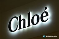 3D LED Side-lit Signs With Black Acrylic Front-panel For Chloé