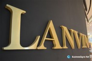 3D Fabricated Brushed Gold Plated Signs For Lanvin
