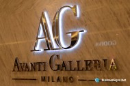 3D LED Backlit Signs With Mirror Polished Letter Shell & 20mm Thickness Acrylic Back Panel For Avanti Galleria