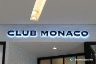3D LED Backlit Signs With Painted Stainless Steel Letter Shell For Club Monaco