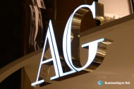 3D LED Front-lit Signs With Mirror Polished Stainless Steel Letter Shell For Avanti Galleria