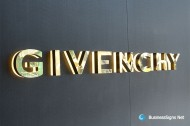 3D LED Backlit Signs With Mirror Polished Gold Plated Letter Shell & 20mm Thickness Acrylic Back Panel For Givenchy