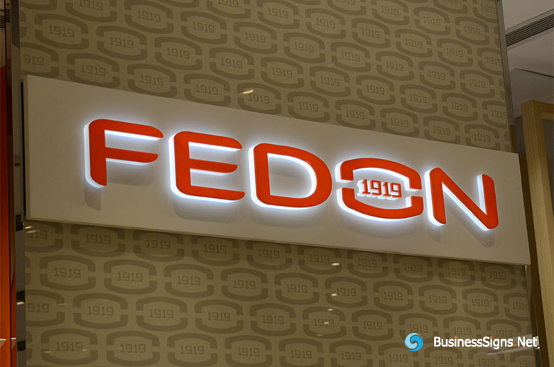 3D LED Whole-lit Signs For Georgio Fedon