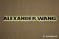 3D LED Back-lit Signs With Mirror Polished Titanium Plated Letter Shell For Alexander Wang
