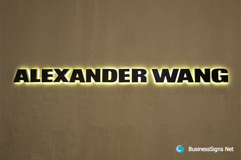 3d-led-back-lit-signs-with-mirror-polished-titanium-plated-letter-shell-for-alexander-wang