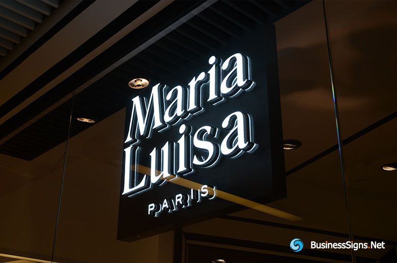 3D LED Double-sided-lit Signs With Painted Border For Maria Lusia