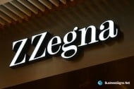 3D LED Front-lit Signs With Painted Stainless Steel Letter Shell For ZZegna
