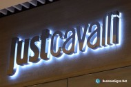 3D LED Backlit Signs With Mirror Polished Letter Shell & 20mm Thickness Acrylic Back Panel For Just Cavalli