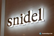 3D LED Side-lit Signs With Brushed Stainless Steel Front-panel For Snidel