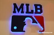 3D LED Backlit Signs With Painted Stainless Steel Letter Shell For MLB