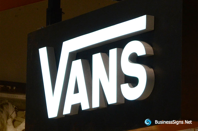 3D LED Front-lit Signs With Brushed Stainless Steel Letter Shell For Vans