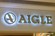3D LED Backlit Signs With Painted Stainless Steel Letter Shell For Aigle