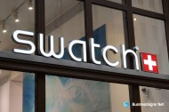 3D LED Front-lit Signs With Brushed Stainless Steel For Swatch
