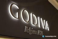 3D LED Side-lit Signs With Painted Acrylic Front-panel For Godiva