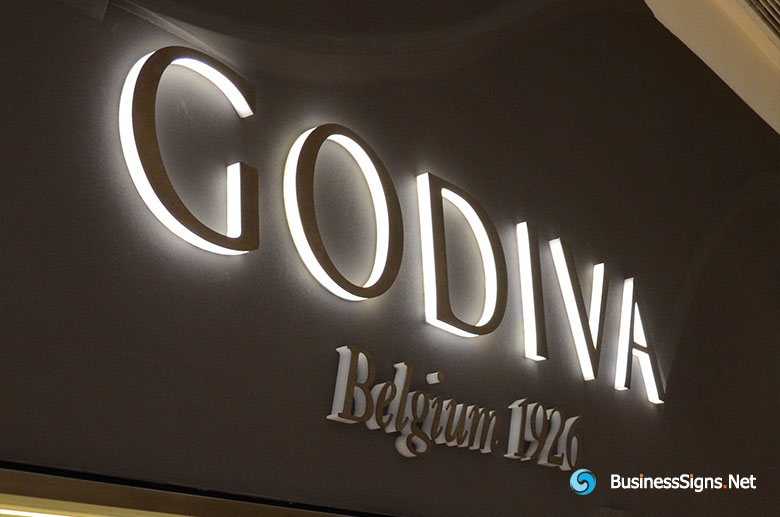 3d-led-side-lit-signs-with-painted-acrylic-front-panel-for-godiva