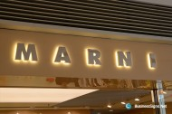 3D LED Backlit Signs With Mirror Polished Stainless Steel Letter Shell For Marni