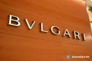 3D LED Front-lit Signs With Brushed Stainless Steel For Bulgari