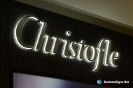 3D LED Side-lit Signs With Mirror Polished Stainless Steel Front-panel For Christofle