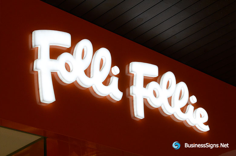 3D LED Whole-lit Signs For Folli Follie