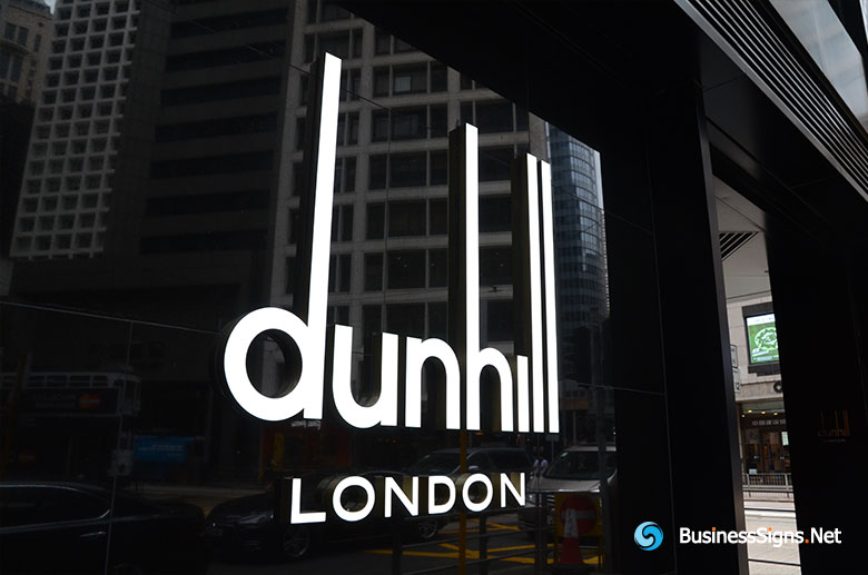 3D LED Front-lit Signs With Painted Acrylic Letter Shell For Dunhill