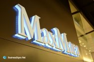 3D LED Backlit Signs With Painted Stainless Steel Letter Shell & 20mm Thickness Acrylic Back Panel For MaxMara