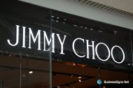 3D LED Front-lit Signs With Mirror Polished Stainless Steel Letter Shell & 10mm Thickness Acrylic Front-panel For  Jimmy Choo