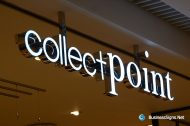 3D LED Front-lit Signs With Mirror Polished Stainless Steel Letter Shell For Collect+Point