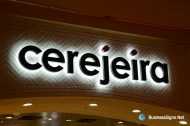 3D LED Backlit Signs With Painted Stainless Steel Letter Shell For cerejeira